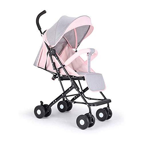 LMCLJJ Kind-Rüttler-Stadt Premier Kinderwagen  Kind-Spaziergänger mit Reversible Seat, Schnell Falten leichten Spaziergänger