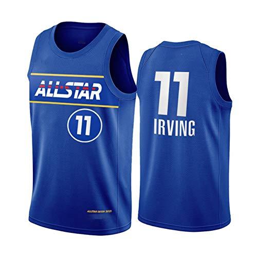 Brooklyn Nets 11# Kyrie Irving Jersey, 2021 All-Star New Temporada Malla de Malla Baloncesto Swingman Jersey Top para Hombres, Gimnasio Transpirable Chaleco deporti M