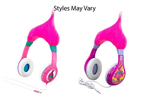 Price comparison product image Trolls Poppy Kid Friendly Headphones with Built in Volume Limiting Feature for Kid Friendly Safe Listening
