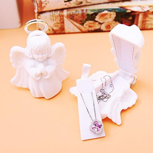 Generic alta calidad. Hermoso color blanco ángel Joyero Joya de la boda...