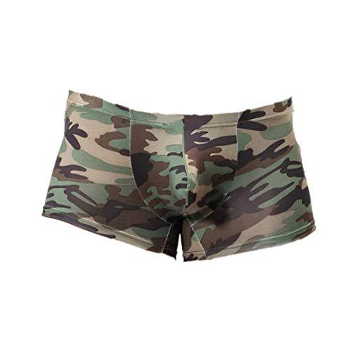 EUCoo Boxer Aderenti da Uomo Morbido E Confortevole Mimetici Boxer Slip Panty Underwear(Camuffare,XX-Large)
