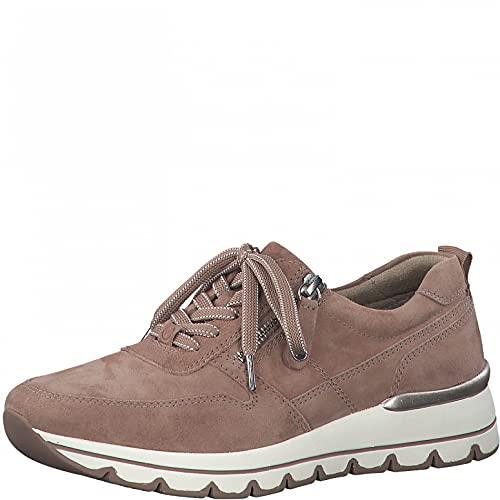 Tamaris Mujer Zapatillas, señora Bajo,Comfort Lining,Zapato de Calle,cordón,Zapato con cordón,Zapato Deportivo,Ocio,Rosewood Suede,40 EU / 6.5 UK