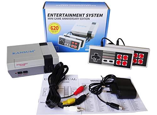 Console de jeu Mini TV familiale classique de 620 jeux, console portable Console rétro avec système de jeu et contrôleur double, vous apportera de beaux souvenirs d'enfance