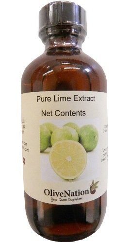 OliveNation Pure Lime Extract for Baking, Tart Citrus Flavor for Cakes, Cookies, Icing, Filling, Terpeneless, PG Free, Non-GMO, Gluten Free, Kosher, Vegan - 4 ounces