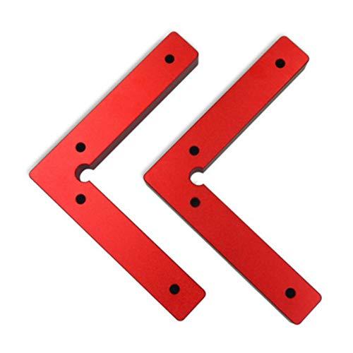 Savlot Winkelklemmen 90 Grad Positionierwinkel, langlebige Aluminiumlegierung, rechtwinkliges Lineal, Zimmerei, Zimmermannswerkzeug, 2 Stück