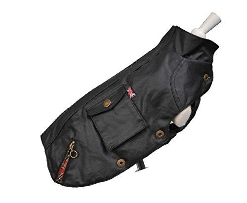 Wouapy Speed, regenjas voor honden, ondoorlatend, zwart, maat 42