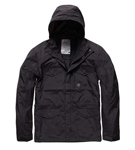 Vintage Industries: Michican Jacket - regenjas voor vrije tijd en outdoor in een leuke afwerking en kwaliteit - perfect voor herfst en winter