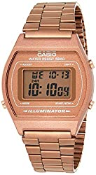 Casio,Casio Vintage Series Digital Rose Gold Rectangle Unisex Watch - B640WC-5ADF,Casio,B640WC-5AEF,B+640WC.5A