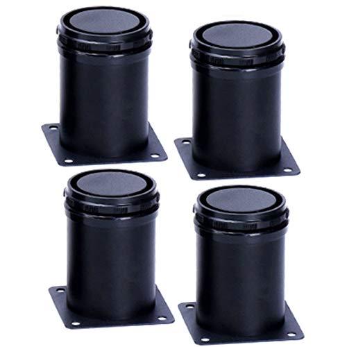 HWJ 10cm verstelbare zwarte meubelpoten, roestvrijstalen set van 4 steunpoten, voor schoenenkast koffiebank