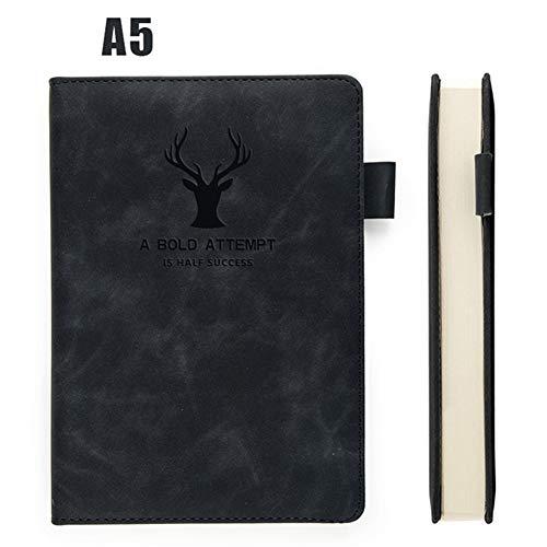 Halsey99 A5 Notizblock 360 Seiten Dicke Wachs Sense Leder A5 Notebook Business Office tägliche Arbeit Notebook