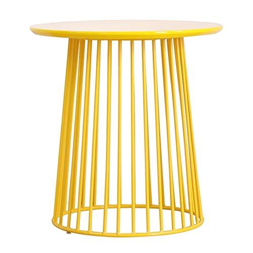 Tavolo da soggiorno Nordic Style Minimalist Style Soggiorno Tavolino Tavolino in ferro battuto Divano Tavolino Lato Balcone Camera da letto Piccolo tavolo rotondo Tavolo di alta qualità Vernice di alt