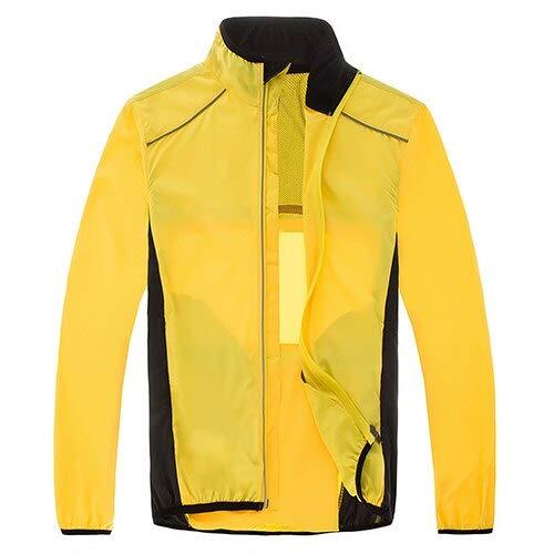 WTBI Orange wind cycling jacket mtb mountain bike men dry fit reflective rain coat jacket women raincoat bicycle clothes windbreaker-Yellow,L