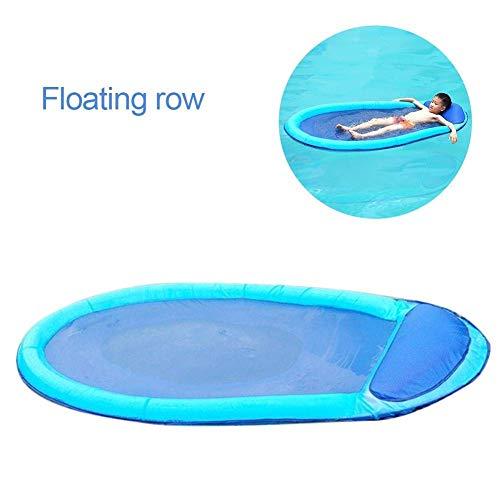 N /A WWCEEM Piscina Flotador Hamaca Remando Cama de Agua Cama Flotante Plegable para niños Niños Adultos Piscina Flotador Juguete Resistente al Desgaste Entretenimiento
