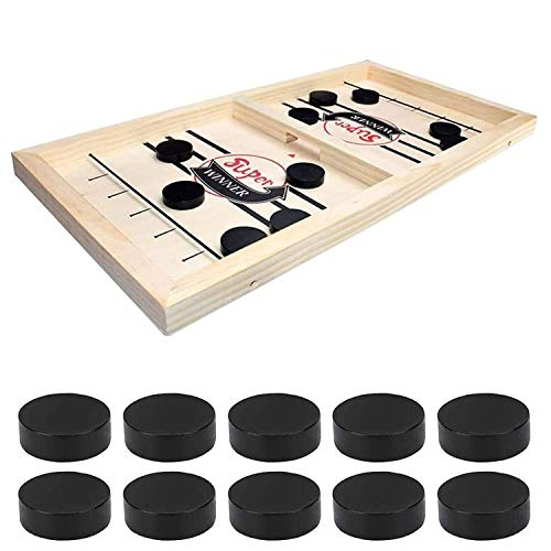 R K HANS Super Fast Sling Puck Game, Portable Table Board Game for Kids and Adults, Tabletop Slingshot Games Toys for Boys and Girls, Desktop Sport Board Game for All Age Group
