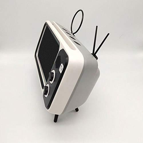 LG Snow de Bolsillo Retro televisión Reproductor de música Bluetooth Altavoz Blanco de Mini portátiles de Audio inalámbrica doméstica