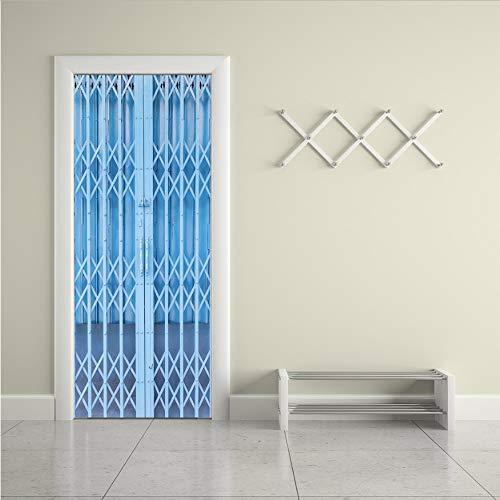 WFYY Diseño de Puerta Plegable Imitada 3D Etiqueta de La Puerta Decoración...