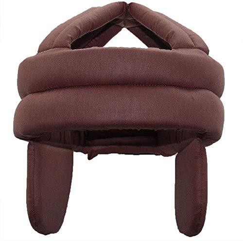 Anti-Fall-Kopfschutzhelm, älterer Hut Gesundheitsschutz Atmungsaktive Anti-Shock-Kappe Anti-Fall-Kopf-Schwammsicherheit, Verstellbarer Kopfschutz-Hut mit Klettverschluss, Anti-Collision (Braun)