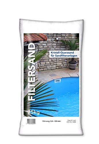 NWN Filtersand | 25 KG | 0,4-0,8 MM | Quarzsand/Filtersand für Sandfilteranlage/Poolfilter
