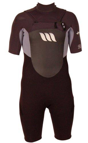West Herren Wetsuit Nitro GBS Short Sleeve Chest Zip Sping, Graphite, S