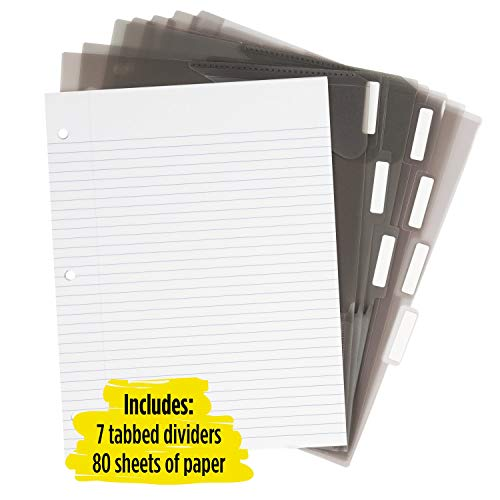 Five Star Flex Hybrid NoteBinder, 1-1/2 Inch Binder with Tabs, Notebook and 3 Ring Binder All-in-One, Assorted Colors, Color Selected for You, 1 Count (29324) Photo #3