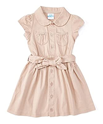 unik Girl Uniform Belted Safari Dress Khaki Size 10