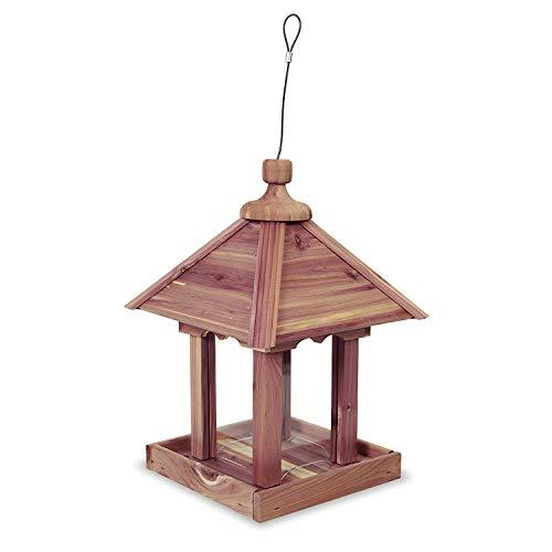 Pennington 100521909 Jr Pavilion Bird Feeder, 2.5 lb, Aromatic Eastern Red Cedar