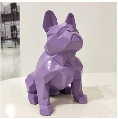 XDFGV Figurine Animal Statue Ornaments Sculpture Statue Animal Resin Dog Statue French Bulldog Sculpture Animal Statue Ornament Craft Decorations