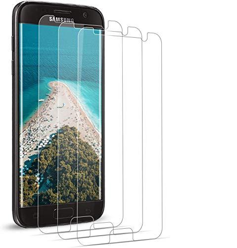 BOBI Vetro Temperato per Schermo Samsung Galaxy S7, Pellicola Protettiva per Schermo Samsung Galaxy S7,HD Trasparenza Resistenza Graffi Tempered Film [3 Pezzi]