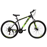 Hiland Bicicleta de montaña de 29 pulgadas, 21 velocidades, con cuadro de acero, freno de disco, horquilla de suspensión, desviador Shimano, guardabarros