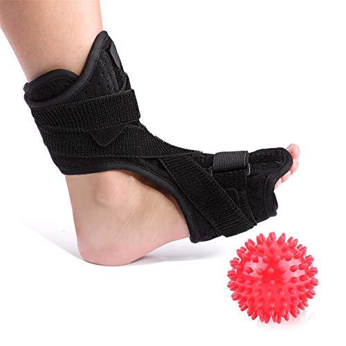Secret night Fersensporn Fußschiene Fallfuß Ankle Splint Support + Spiky Massage Ball Fersensporn Dorsale Nachtschiene Fuß-Orthese Stabilizer