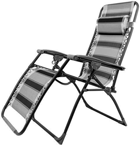 Silla de escritorio de oficina reclinable de gravedad cero silla de jardín plegable al aire libre Tumbona Patio Camping Silla portátil ajustable soporta multifuncional