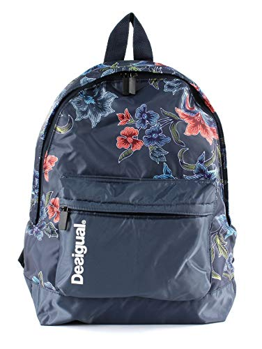 Desigual Sport Fitness Rucksack Daypack Backpach Geopatch Blue 18WQXW23/5189
