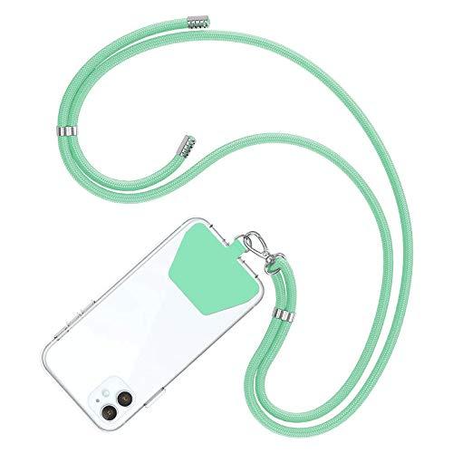 COCASES Universale Handykette, Schlüsselband Halsband zum Umhängen kompatibel mit iPhone/Samsung/Huawei (Grün)