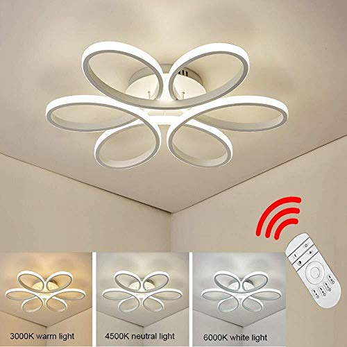 YOUXD 100W LED plafondlamp, creatief moderne bloem, lamp, 3000-6000 K, 8500 lm helder Φ74xH10cm Flush voor Bagno, keuken, Disimpegno, Outside Veranda