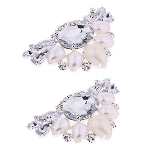 Sharplace 2X Apliques de Zapatos Nupciales Diamantes de Imitación Brioclaje