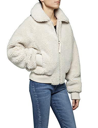 Replay Damen W7531 .000.83440 Jacke, Grau (Ivory 13), X-Small (Herstellergröße: XS)