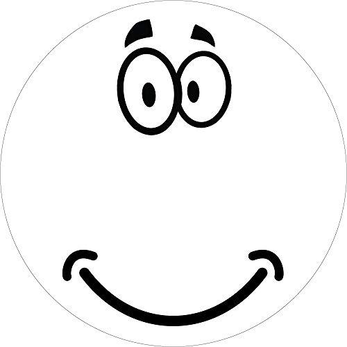 TEDDYFAMILY Saugroboter-Aufkleber, Gesicht, Größe und Farbe WÄHLBAR - Sticker Augen Mund Wischroboter