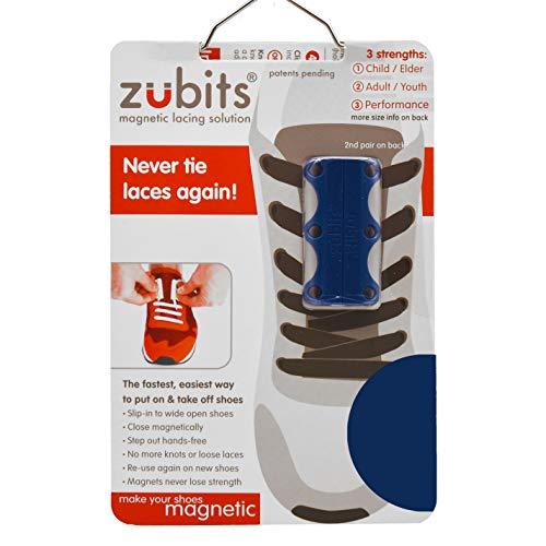 zubits® - Magnetische Schuhbinder/Magnetverschlüsse für Schuhe - Größe #1 Kinder und Senioren in dunkelblau