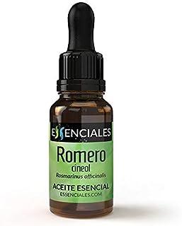 Essenciales - Aceite Esencial de Romero Cineol, 100% Puro, 30 ml | Aceite Esencial Rosmarinus Officinalis
