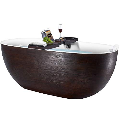 AKDY Acrylic Wood Bathtub