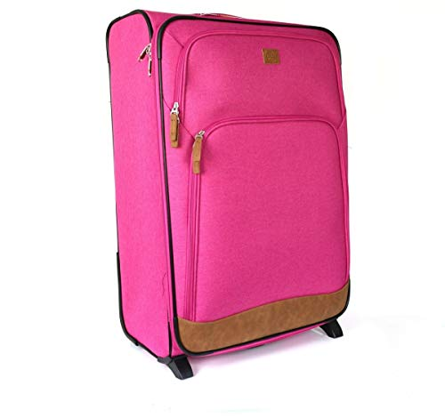 Rada Upright 2 Rollen Trolley 75cm Pink Two Tone/Cognac