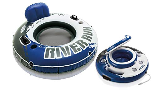 Intex River Run I Inflatable Floating Tube Raft with Mega Chill Cooler