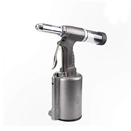 LONGWDS Alta Resistencia neumática Remachadora, SN-813 Rivet Pistola estándar de la Mano del Grado Industrial de Herramienta de múltiples Funciones y ergonómico