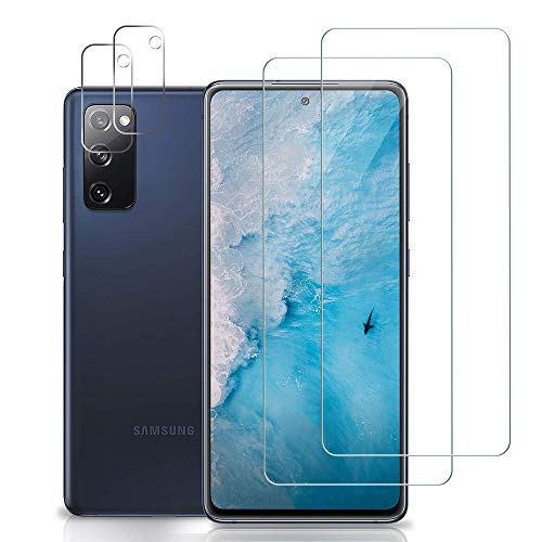 Bodyguard Panzerglas Schutzfolie für Samsung Galaxy S20 FE [2 Stück]+ S20 FE Kamera Panzerglas [2 Stück], [2.5D Rand Hüllefreundlich] [HD Klar] [Blasenfrei] [Anti-Fingerabdruck] Displayschutzfolie
