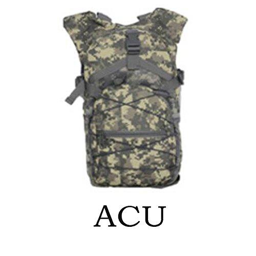 Ocamo Mochila de camuflaje multifunción, gran capacidad, para correr, viajar, montañismo, ACU color