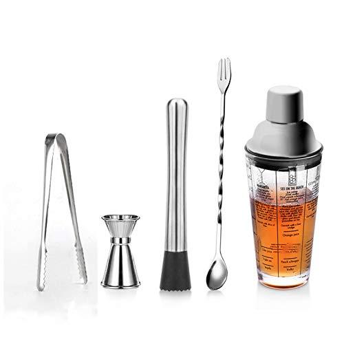 XHDD Shaker Cocktail Kit,De Acero Inoxidable De Regalo para El,Bar Set,Conjunto Ideal para Fabricantes De Bebidas Profesionales Y Aficionados por Igual,14Oz