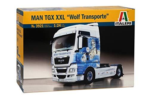 Italeri 3921 - 1:24 Man TGX XXL Wolf Transporte, Farhrzeug