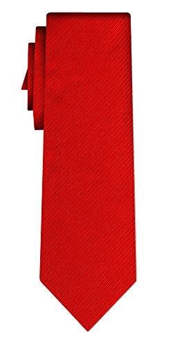 Cravate unie solid red twill