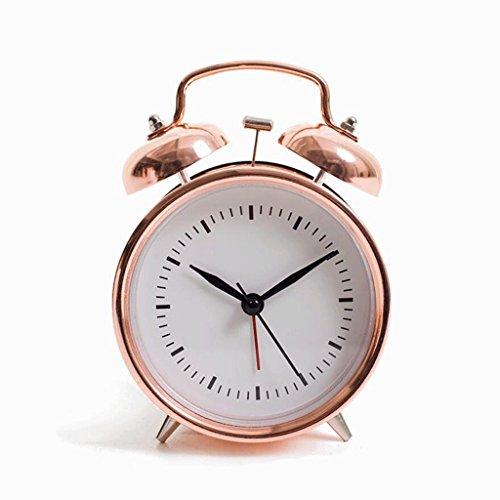 Alarm clock Fhw Reloj Despertador electrónico nostálgico Retro Reloj Despertador Ruidoso Reloj Despertador Perezoso (Color : B)