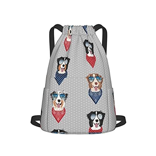Aussie - Gafas de sol de pastor de verano para perros y mascotas, color gris, con cordón, mochila para gimnasio, deporte, playa, yoga, etc